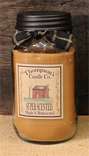 Maple & Butterscotch Mason Jar Candles Large Jar ~ 25 fl oz (25 Oz Candle)