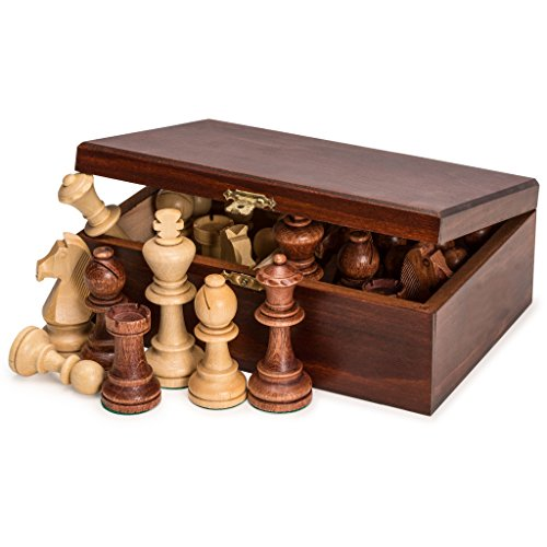 (Staunton No. 7 Tournament Chess Pieces in Wooden Box by)