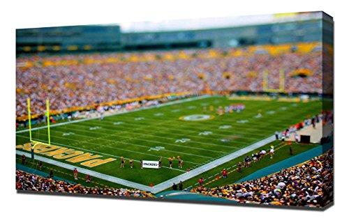 Lilarama USA Green Bay Packers Lambeau Field Stadium 3 - Canvas Art Print - Wall Art - Canvas Wrap
