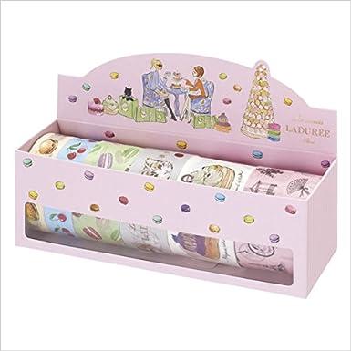 Masking Tape Set Salon de the Les Secrets LADUREE par MARK'S / Six-pieces set of masking tapes / Laduree Box Pink