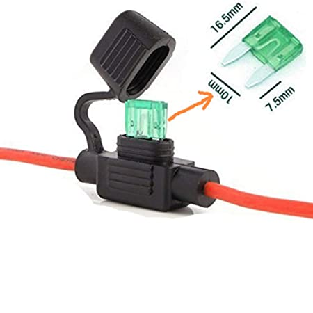 qiorange mini standard blade fuse holder box in line 14awg wireqiorange mini standard blade fuse holder box in line 14awg wire copper waterproof with 30amp fuse for cars (fuse holder 1 pcs) amazon co uk diy \u0026 tools
