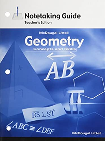amazon com geometry concepts and skills notetaking guide teacher rh amazon com