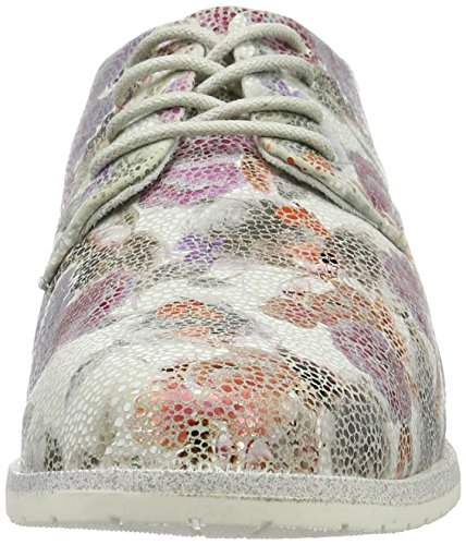 23208 Oxford para Com Blanco Cordones 162 de Zapatos Marco Tozzi Wht Flower Mujer Y5KwqOTX