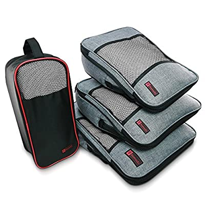 Nomadz Compression Packing Cubes - Dual Function Luggage Organizer Compression Pouches