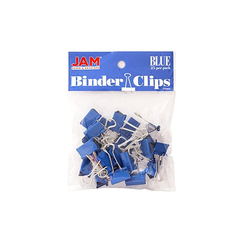 JAM PAPER Colorful Binder Clips - Small