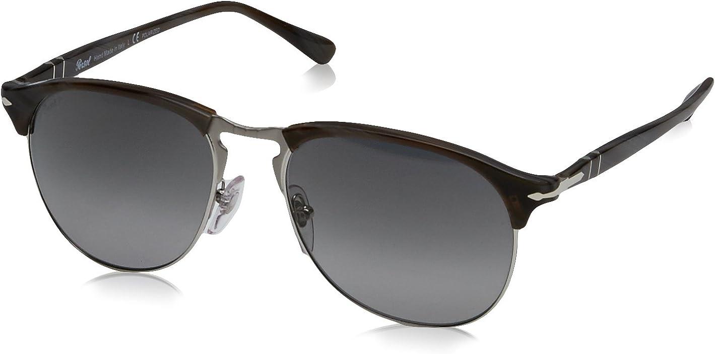 Persol Montures de lunettes Homme Noir (Dark Horn/Gradient Green Polarized)