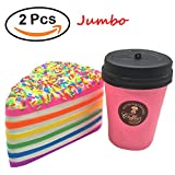 vent coffee - Marval Power Kawaii Jumbo Squishies Hamburger Big Mac Fries Ice Cream set Coffee Cup set Squishy Slow Rising Scented Vent Kid Hand Toy, Stress Relief, Decorative Props Doll Gift Fun Large