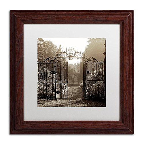 Hampton Gates III by Alan Blaustein, White Matte, Wood Frame (Hampton Gate)