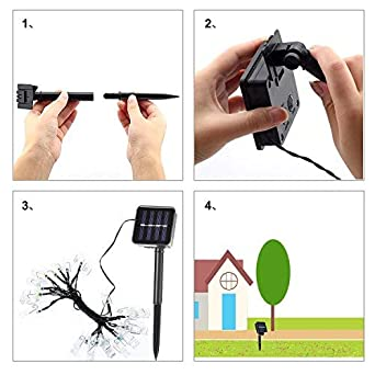 for Hanging Photos Paintings Pictures Card and Memos ACEHOME Solar Clips String Lights Christmas Lights Multi Color Warm white 20 LED 16Ft Photo Clips String Lights Indoor//Outdoor