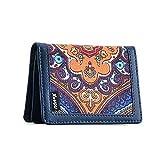 XeYOU Minimalist Money Holder Front Pocket Wallet Super Thin Fashion Card Holder With ID Card Window (Blue)