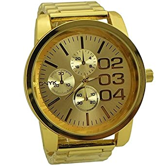 Onyk fashion and sport style watches for men gold tone - 10