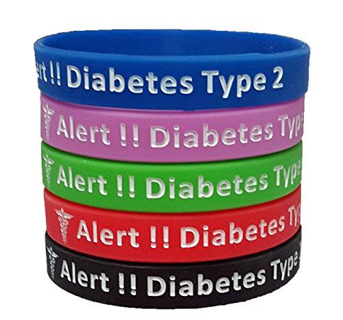 MedicalAlert-Type-2-Diabetic-Silicone-Bracelet