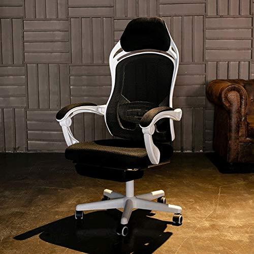 JINGXIANG Kontorsstolar datorstol, förankringsstol, nätstol, arbetsstol, svängbar kontorsstol, bekväm spelstol (färg: Brun) Brun
