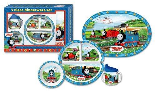 Thomas The Tank Engine 5-Piece Dinnerware (Abc Engine)