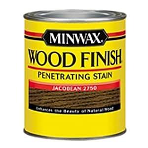 Minwax 227504444  Wood Finish Penetrating Interior Wood Stain, 1/2 pint, Jacobean