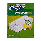 Swiffer Sweeper Dry Sweeping Pad Multi Surface Refills for Dusters Floor Mop, Unscented, 16 Count