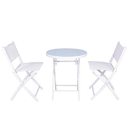 Fabulous Amazon Com Goodgoods Llc Folding Bistro Table Chairs Set Bralicious Painted Fabric Chair Ideas Braliciousco