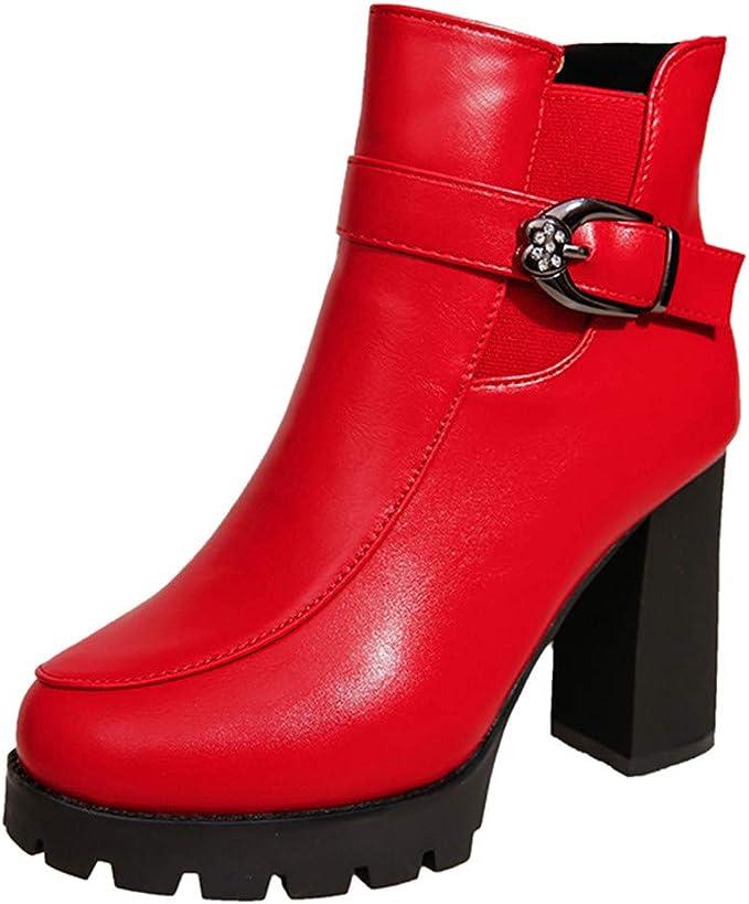 Zapatos Muy peque/ños Yudesun Mujer Sandalias de Vestir Zapatos de tac/ón Botas Punta Abierta Botines Cremallera Lateral Peep Toe Espalda Abierta Delgado Tac/ón Alto