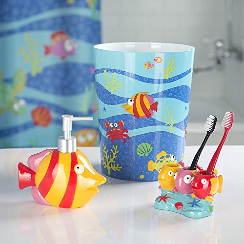 - Allure Home Creations Fish Tails 3-Piece Bathroom Accessory Set - 1 Lotion Pump,1 Toothbrush Holder and 1 Wastebasket