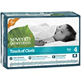 Seventh Generation Touch of Cloth Diapers, Size 4, 120 Count