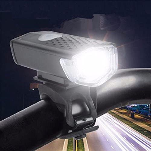Mountain Bike Bicycle LED Front Head Light/&Rear Tail Lamp Set USB Rechargeable