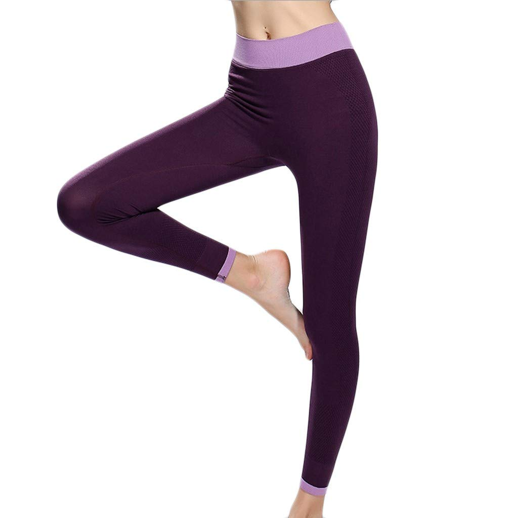 SGMORE_Yoga Pants for Women Power Workout Leggings Capri and Full Length Ultra Soft Lightweight Leggings Activewear Plus Size Bootcut Tights Stretchy Purple