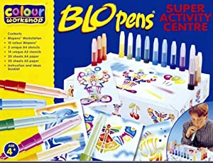Blopens Blo Pens Super Activity Center 15 Pens + Schablonen