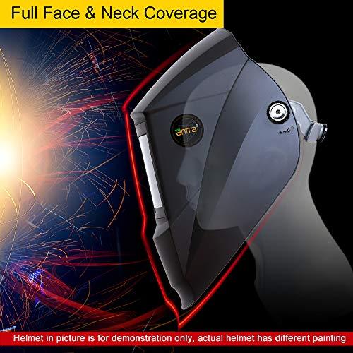 7102165ab4473 Antra AH7-X30P-7332 Digital Controlled Solar Powered Auto Darkening Welding  Helmet Wide Shade