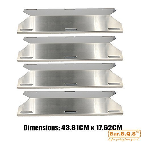 Bar.b.q.s Stainless Steel Replacement Heat Plate BBQ Gas Grill Heat Shield 91241 (4-pack) for Nexgrill, FirePlus, Fire Mountain, Char-Broil, CosmoGrill, Campingaz and Other Model Grills