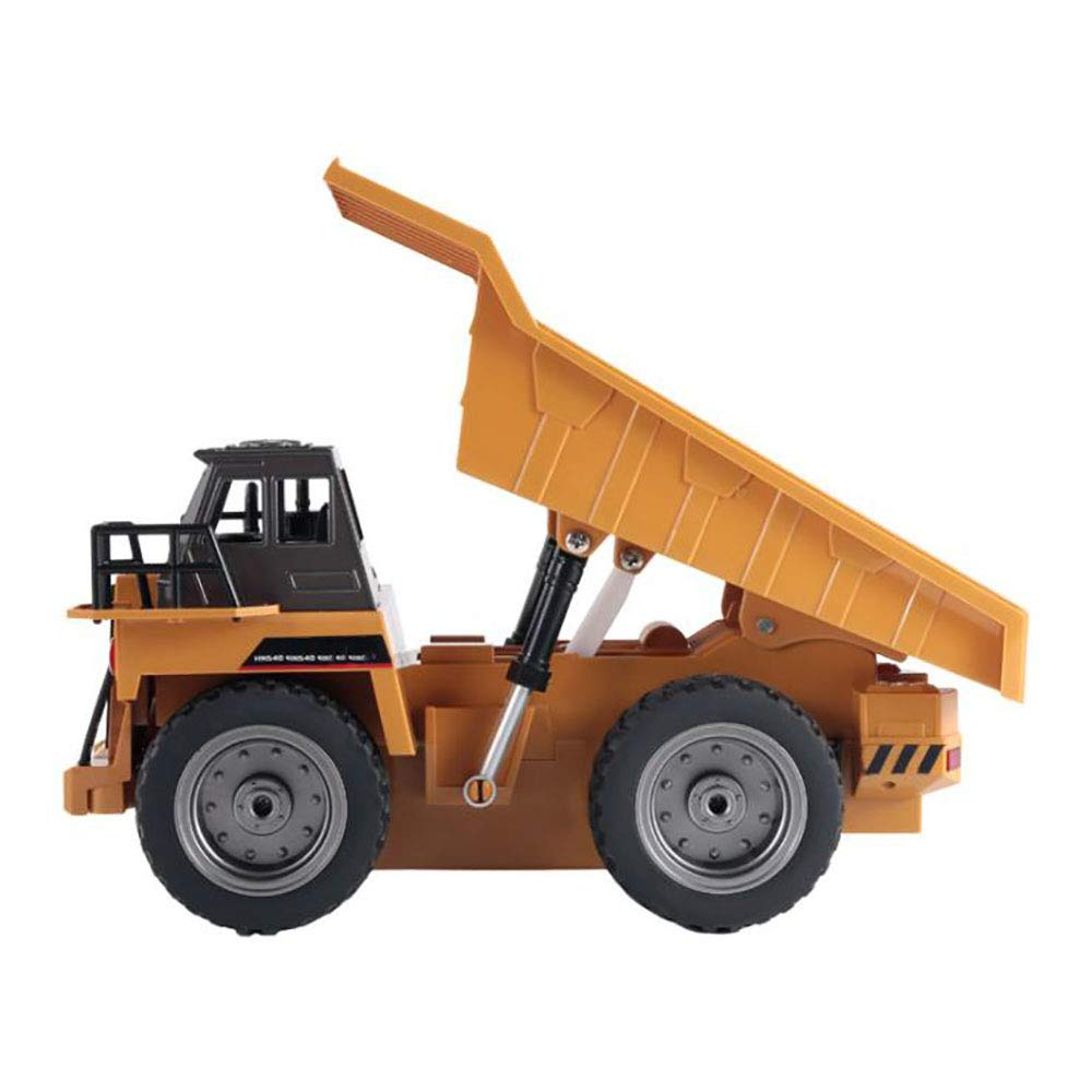 Wireless 2.4G Long Distance Remote Control Electric 6-Channel Dump Truck Alloy Version of Engineering Vehicle Toys LIJUN