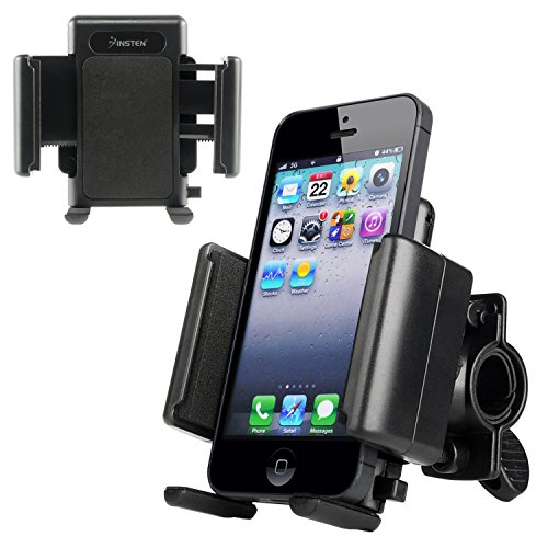 icycle Phone Holder Ram Mount for iPhone X/8 Plus/7/7 Plus/6S/6S Plus, Samsung Galaxy S9/S9+ S9 Plus/S8/S8+ S8 Plus/On5/S7 Edge/S7, LG G5/G6/Nexus 5X & more, Black (Amp Bicycle)