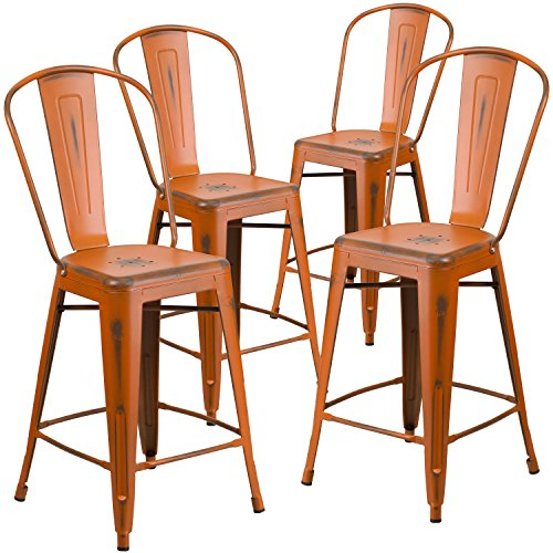4-pk-24-high-distressed-orange-metal-indoor-outdoor-counter-height-stool-with-back
