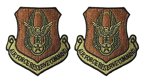 - USAF Reserve Command OCP Spice Brown Patch with Hook Fastener- 2 Pack