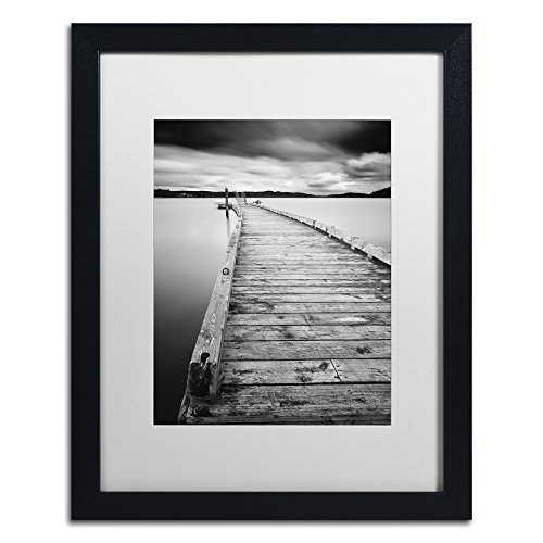 Black White Landscape Photographs - Motchia by Moises Levy in White Matte and Black Framed Artwork, 16 by 20