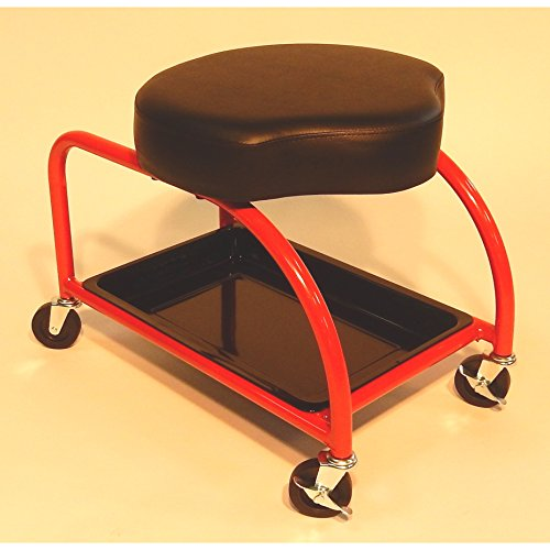 Mechanics Stool with Casters & Tray Storage Garage Ergonomic Rolling Seat Mechanical Equipment Work Tools