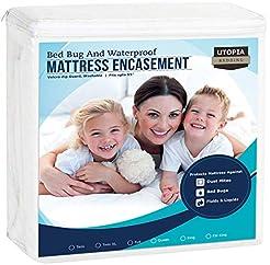 Utopia Bedding Zippered Mattress Encasem...