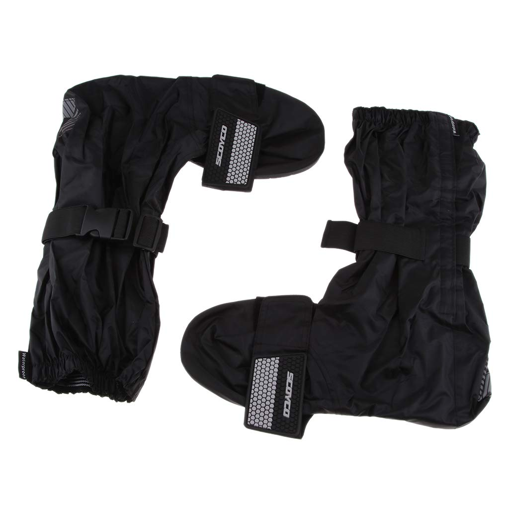 XXL B Blesiya Reusable Thick Waterproof Dustproof Motorcycle Rain Boot Shoes Covers Shoe Cover Protector Anti-Slip Boots PVC