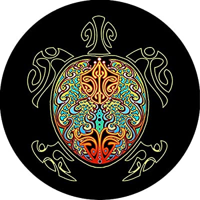 Tire Cover Central Turtle #4 Multi Color Shell Tire Cover for Jeep RV Camper Trailer (Drop Down menu Sizes Dubois(c)