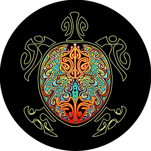 Tire Cover Central Turtle #4 Multi Color Shell Tire Cover for Jeep RV Camper Trailer etc(255/75r17 (Drop Down menu ()