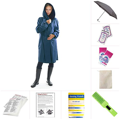 Mycra Pac Short Donatella Fashion Travel Raincoat (Extra Small, Sapphire) by Mycra Pac