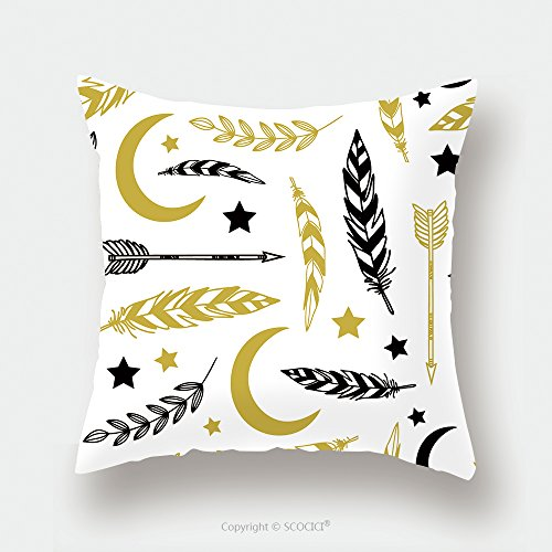 Custom Satin Pillowcase Protector Ethnic Background With Feathers Moon Stars Florals And Tribals Used For Wallpaper Pattern 223856470 Pillow Case Covers Decorative