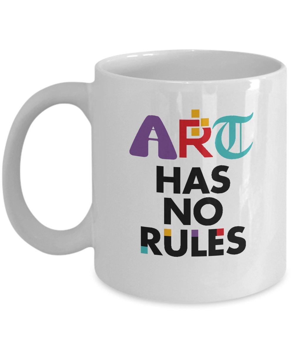 Art Has No Rules Stylish Artistic Cool Coffee /& Tea Gift Mug