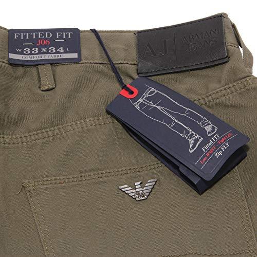 Trouser Armani 5 Cotton Jeans 0868X Green Tasche J06 Verde Pantalone uomo Man qp4xTwq8r