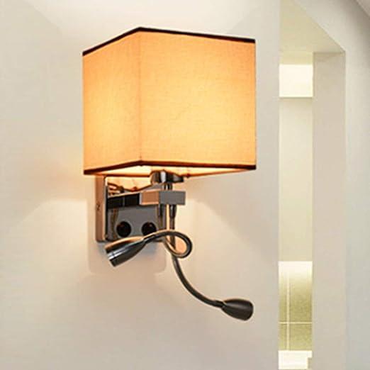 MJK Lámpara de pared, proyector de pared Lea el paño ...