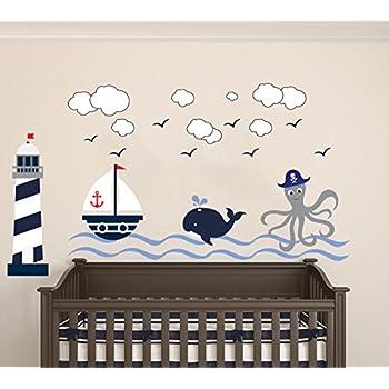 Nautical Theme   The Wonderful Sea World Sailor Childrenu0027s Room Kids Room  Baby Nursery Playroom Wall Part 59