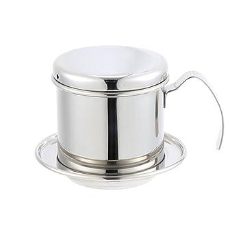KAYLEY Portable Stainless Steel Vietnam Coffee Dripper Filter Cafetera Drip Coffee Filter Pot: Amazon.es: Hogar