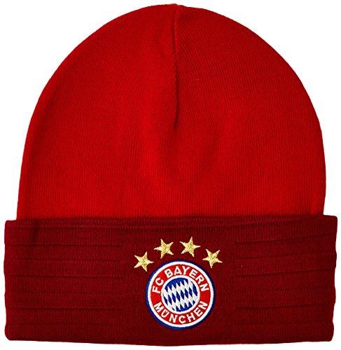 adidas Herren Mütze FC Bayern 3-Stripes Woolie, True Red/Craft Red F12/White, OSFM, AA0754