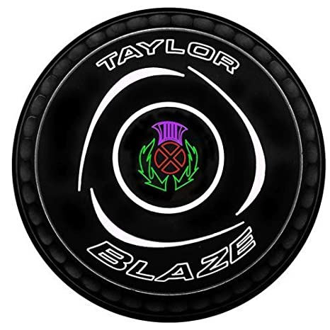 Taylor Blaze Black Level Green Lawn Bowls Set of 4 2