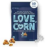 SEA SALT LOVE CORN - 1.6oz (10 BAGS) crunchy roasted corn, gluten-free, vegan, non-gmo, sugar-free snack
