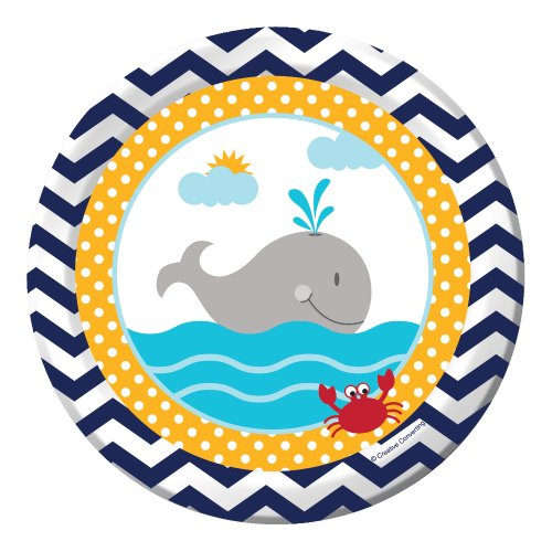 Creative Converting 8 Count Ahoy Matey Luncheon Paper Plates